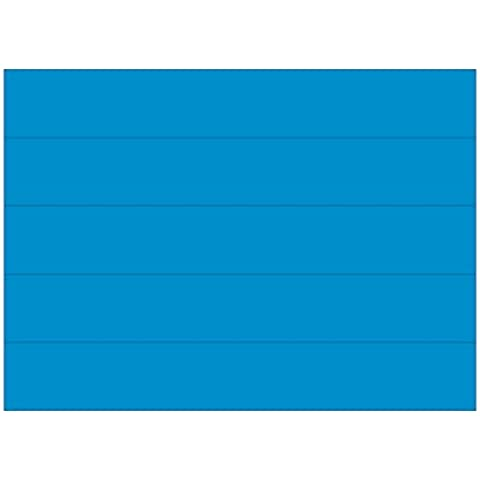 Dry Erase Magnetic Tape Strips, Blue, 6 x 7/8, 25/Pack, Sold as 1 Package
