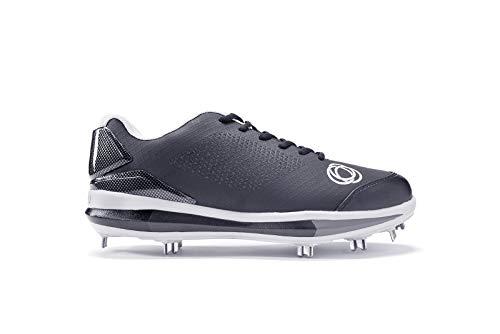 Athalonz Herren G-Force Low Metal Baseball Cleats, Herren, schwarz, 10 M US -