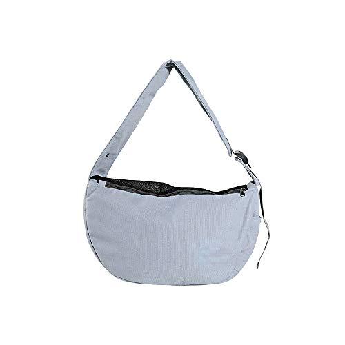 FREELX Katzentasche Transporttasche Haustier Umhängetasche für Hunde und Katze mit Faltbare und Atmungsaktiv Weicher Schultergurt Geeignet für Kleine und Mittlere Haustiere,Grau