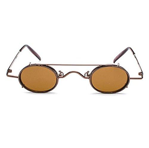 Occhiali da sole ovali removibili non polarizzati stile vintage retrò da uomo e da donna