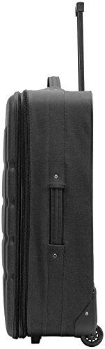Packenger Easy Traveller Koffer 3er-Set aus Nylon in der Farbe Schwarz. Abmessungen: Größe M (Bordcase), L und XL - 4