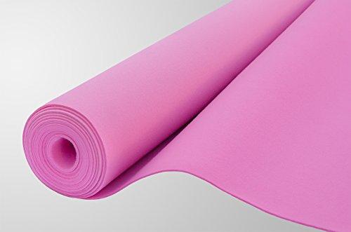 Filz, Filzstoff, Dekorationsfilz, imprägniert, Breite 100 cm, Dicke 4 mm, Meterware 0,5 lfm – rosa