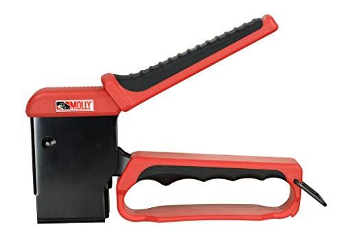 Molly - M71921-XJ Kit de pince + 40 chevilles métalliques à expansion (4 x 33 mm et 5 x 36 mm) et Pince, Roug et Noir