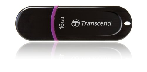 Transcend JetFlash 300 USB 2.0 16GB Pen Drive (Black)