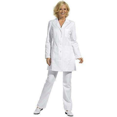 Bata corta de señora, manga larga, blanco (42)