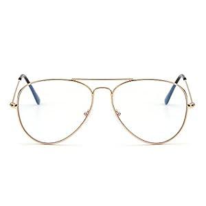 ordenador lento: Bloqueo de Luz Azul Gafas de Lectura Ordenador,Estilo de Retro Aviador Reducir F...