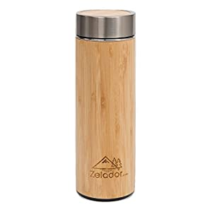 31bk1LnVUeL. SS300  - 380ml Bamboo Stainless Steel Travel Flask
