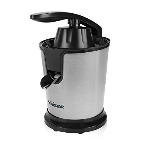 Tristar CP-3002 - Exprimidor, 85 W, motor silencioso, palanca de presión única, color plata y negro...