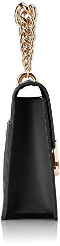 Chicca Borse Damen 8679 Henkeltasche, 24x19x8 cm Nero (Black)