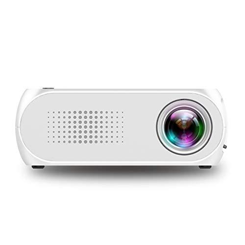 Beamer, Mini Beamer 1080P Video LCD HD Projektor, Unterstützung HDMI VGA Decke/Stativ Installation für Video TV PC Laptop Spiele Smartphone für Heim und Frühlings Outdoor-Unterhaltung(White)