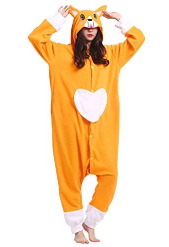 Unisex Kigurumi Jumpsuit Tier Pyjamas Kostüm Fasching Onesie Damen Herren Karneval Cosplay Nachtwäsche, Hund