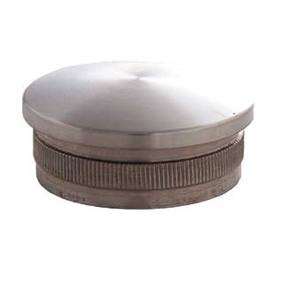 Edelstahl Endkappen Rohrverschluss Stopfen gewölbt 42,4 / 2 mm aus V2A
