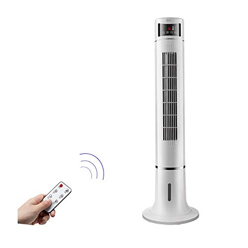Mobile Klimageräte Turmventilator mit Fernbedienung - weißer tragbarer Klimaanlagenventilator, LED-Temperaturanzeige, Luftbefeuchter mit Luftkühlung, dritte Gangeinstellung26.2 * 116.5cm