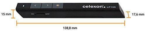 celexon Laser-Presenter Economy LP100, kabelloser Presenter, integrierter Laser-Pointer, hohe Reichweite - 2