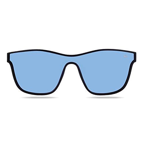 Hanukeii Unisex-Erwachsene Mavericks Black Sonnenbrille, Schwarz, 142