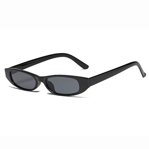 LX-LSX Sonnenbrille-Damen-kleines Feld-im Freieneinkaufen-Fotografie-zufällige Mode-Bequeme Entblendungs-Gläser (Farbe : Black Frame Black Lens)