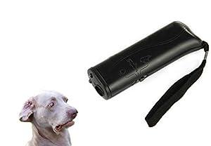 ASOCEA Nouveau réflecteur de formateur chiens à ultrasons 3 en 1 Anti aboiement Stop écorce dispositif de dressage de chien avec LED