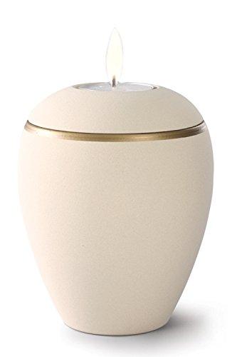 Keramik Kerzenhalter Verbrennung Asche Urne–Creamy Weiß