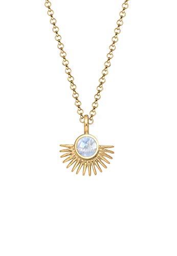 Elli Halskette Damen Astro mit Mondstein in 925 Sterling Silber