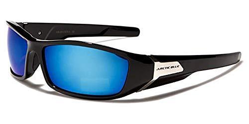 Arctic Blau Specialist Ski Sonnenbrille-Blendschutz BLUETECH Objektive (Skifahren-Snowboarden-Fahren-Radfahren-Laufen), Braun