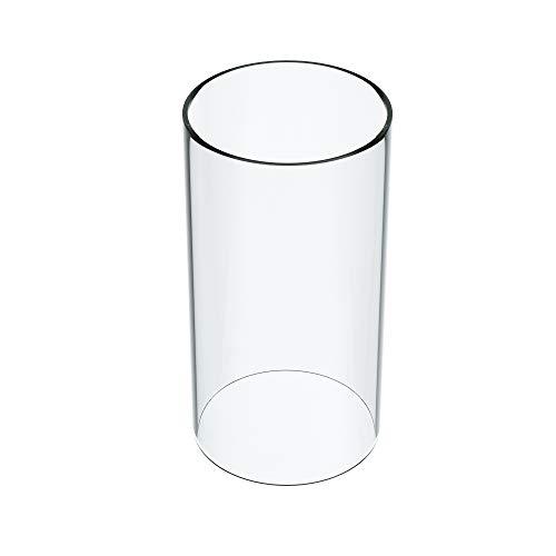 KETELAMP Hurricane Kerzenhalter, Glas, offenes Ende, Zylindervase, offen, Glas-Lampenschirm (mehrere Spezifikationen) -