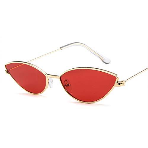 AAMOUSE Sonnenbrillen Frauen Männer Sonnenbrillen Kleiner Rahmen Metall Cat Eye Classic Dazzle Farbe Retro Designer Vintage Sonnenbrille