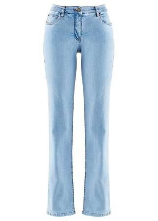 Damen Stretch Jeans in bkue bleeched Slim Fit gerades Bein Größe 36 38 40 42 44 46 48 50 52 54 hell blau Baumwolle Stretch 36 bis 54 Nummer 14195