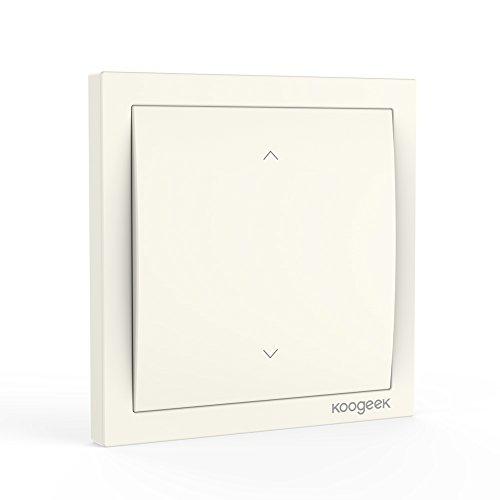 Koogeek Wifi Smart Light Dimmer Schalter 220 ~ 240V mit Apple HomeKit Siri-Fernbedienung Ein-Weg Pfosten-Wand-Schalter auf Netz-Monitor-Leistungsaufnahme 2.4GHz Beige【Note:A neutral wire is required.】