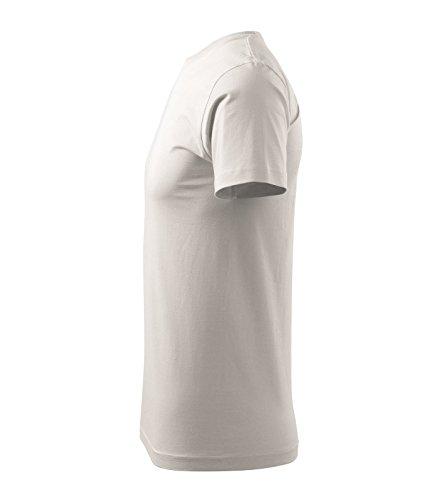 T-Shirt für Herren Shirt Basic - Größe und Farbe wählbar - Weiß