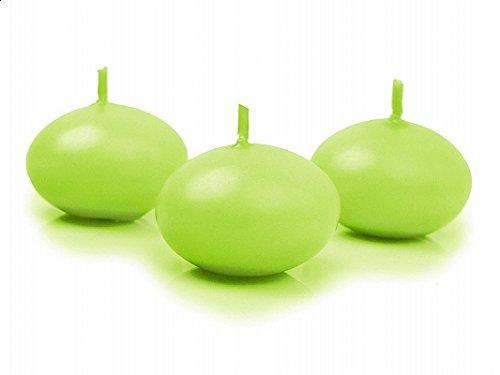 SiDeSo 5 Stück Schwimmkerzen 40mm viele Farben (apfel grün matt)