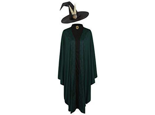 Kostüm Potter Harry - Offiziell lizenzierte Harry Potter Professor Minerva McGonagall Kostümwoche Kostüm für Lehrer, Erwachsene, Einheitsgröße, mit gefiederten Hut