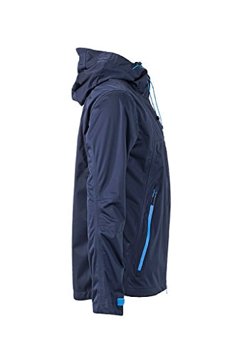 JAMES & NICHOLSON Ultraleichte Softshell-Jacke für extreme Wetterbedingungen Navy/Cobalt