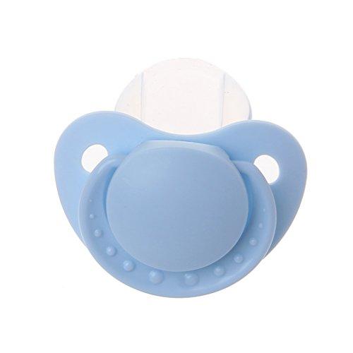Size Lebensmittelqualität Silikon Erwachsene Schnuller Lustige Eltern-Kind-Spielzeug Blau ()