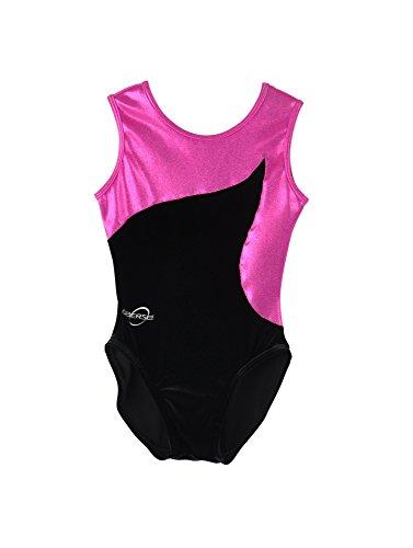 Obersee O3GL010CXXS - Mädchen Gymnastikanzug, Größe XXS, pink flow Preisvergleich
