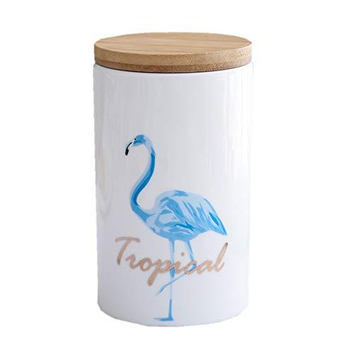 OnePine Runde Frischhaltedose mit Deckel Vorratsdose Kaffeedose Teedose, 600ml Keramik...