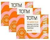 Trois paquets de 15Coton Bio Non-applicator Tampons (Super Plus) 100%...