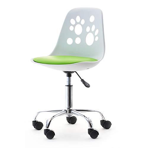 Foot - La Chaise Moderne et d'un Design Innovateur Tournante Réglable pour le Bureau d'enfants (Blanc/Citron vert)