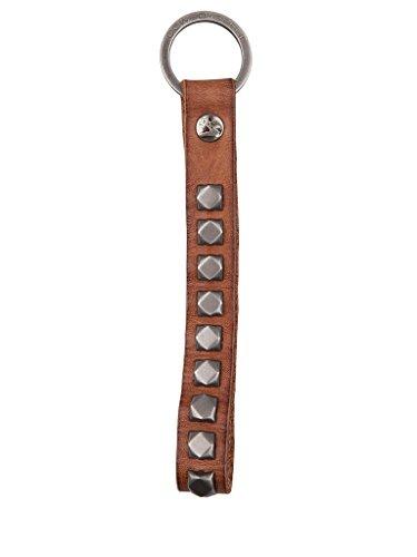 Cowboysbelt Keycord Schlüsselanhänger Lederband mit Nieten camel 4106
