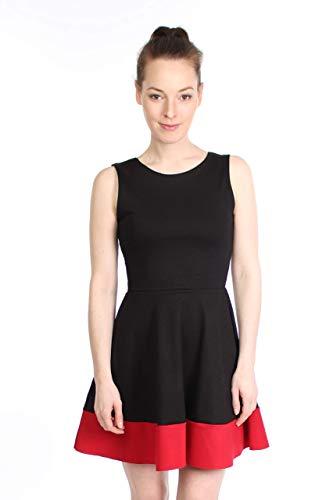 Kleid LEO schwarz rot Minikleid Jersey