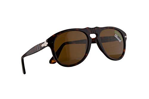 Persol 649 Sonnenbrille Havana Mit Polarisierten Braunen Gläsern 52mm 2457 PO 0649 PO0649 PO649