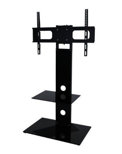 Mountright MK001Freitragende TV-Ständer mit Halterung für 27bis 139,7cm Zoll LED, LCD & Plasma-Bildschirme mit Drehgelenk, One Regal (Shelf 1 Bracket Glas 4)