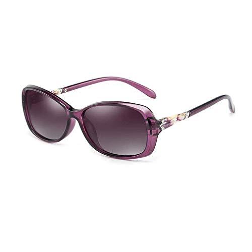 JOLLY Damensonnenbrillen Klassische Designer-Sonnenbrillen-Art und Weise (Farbe : Lila)