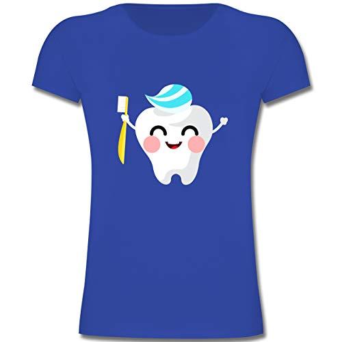 Anlässe Kinder - Zahnfee mit Zahnpasta - 128 (7-8 Jahre) - Royalblau - F131K - Mädchen Kinder ()