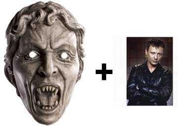 (Weeping Angel Doctor Who Karte Partei Gesichtsmasken (Maske) - Enthält 6X4 (15X10Cm) starfoto)