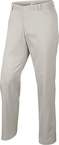 2015 Nike Dri-Fit Flat Front Funky Pants Mens Golf Trousers Light Bone 40x30