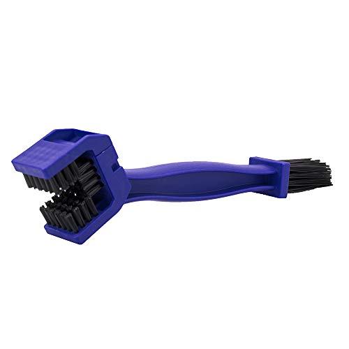 Spazzola di pulizia per catena moto bicicletta, spazzole per auto moto bicicletta bici motocicletta pulite strumento - blu