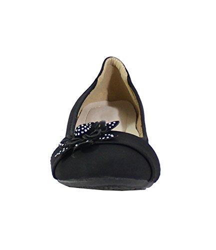 By Shoes, Damen Ballerinas Schwarz