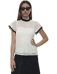 new style 16023 b3b10 camicia seta - 38 / Donna: Abbigliamento - Amazon.it