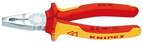 Knipex Kombizange - verchromt isoliert mit Mehrkomponenten-Hüllen, VDE-geprüft, 200 mm