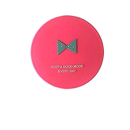 Arulinmz Geschenke für Ihre Babys Mini Runde Cartoon Fliege Muster Kleine Glas Spiegel Kreise für Handwerk Dekoration Kosmetik Zubehör Rosa
